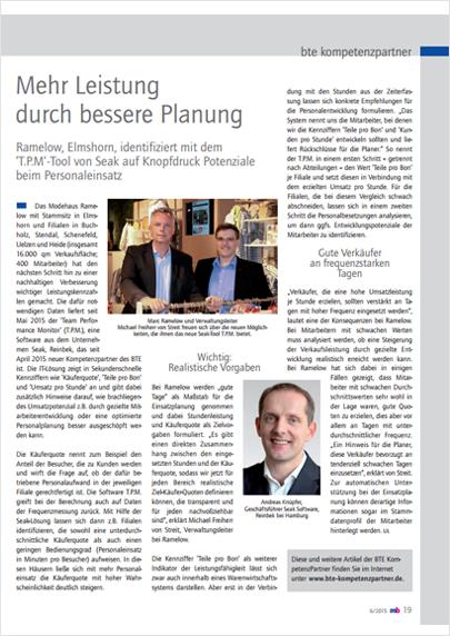 T.P.M. bei Ramelow | SEAK Software GmbH