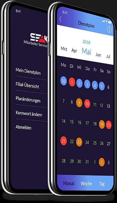 Mobiler Dienstplan SEAK