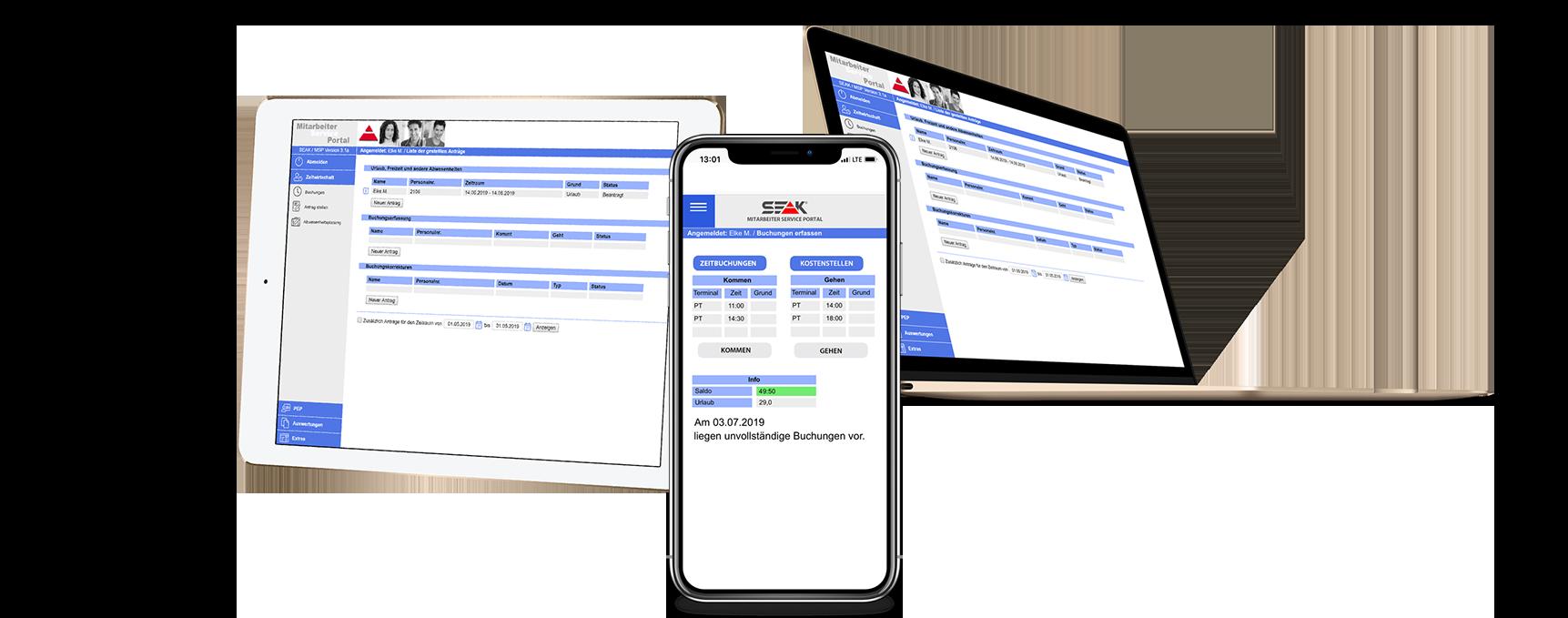 Mitarbeiter Service Portal - Employee Self Service im Handel | SEAK Software GmbH